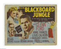 """The Blackboard Jungle (MGM, 1955). Title Lobby Card (11"""" X 14""""). Offered here is a vintage, theater-used title..."""