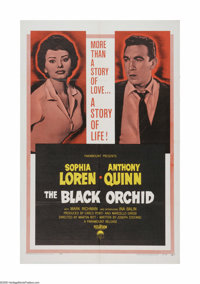 "The Black Orchid (General Film Distributors, 1953). One Sheet (27"" X 41""). Offered here is a vintage, theater-..."