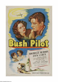 "Movie Posters:Adventure, Bush Pilot (Screen Guild Productions, 1947). One Sheet (27"" X 41""). Offered here is a vintage, theater-used poster for this ..."