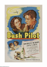 """Bush Pilot (Screen Guild Productions, 1947). One Sheet (27"""" X 41""""). Offered here is a vintage, theater-used po..."""