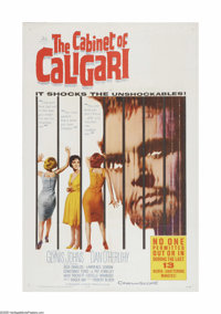 "The Cabinet of Caligari (20th Century Fox, 1962). One Sheet (27"" X 41""). Offered here is a vintage, theater-us..."
