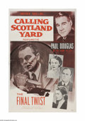 "Movie Posters:Short Subject, Calling Scotland Yard (Paramount, 1956). One Sheet (27"" X 41"").Offered here is a vintage, theater-used poster for this crim..."