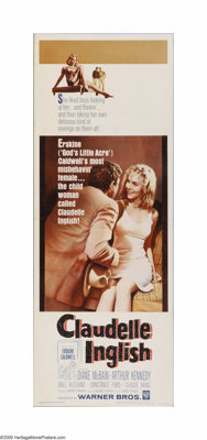 "Claudelle Inglish (Warner Brothers, 1961). Insert (14"" X 36""). Offered here is a vintage, theater-used poster..."