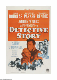 "The Detective Story (Paramount, 1951). One Sheet (27"" X 41""). This is a linen backed, vintage, theater-used po..."