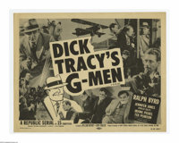 "Dick Tracy's G-Men (Republic, R-1955). Title Lobby Card (11"" X 14""). Offered here is a vintage, theater-used t..."
