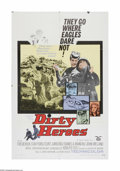 "Movie Posters:War, Dirty Heroes (Golden Eagle, 1969). One Sheet (27"" X 41""). Offeredhere is a vintage, theater-used poster for this wartime ad..."