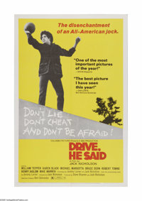 "Drive, He Said (Columbia, 1971). One Sheet (27"" X 41""). Offered here is a vintage, theater-used poster for thi..."