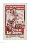 "Movie Posters:Crime, Duffy of San Quentin (Warner Brothers, 1954). One Sheet (27"" X 41""). Offered here is a vintage, theater-used poster for this..."