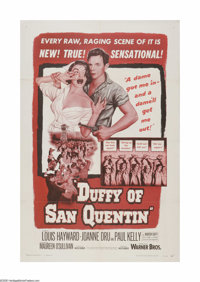 """Duffy of San Quentin (Warner Brothers, 1954). One Sheet (27"""" X 41""""). Offered here is a vintage, theater-used p..."""