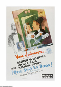 "Easy To Wed (MGM, 1946). Spanish One Sheet (27"" X 41""). This is a vintage, theater-used poster for this comedy..."