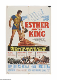 """Esther and the King (20th Century Fox, 1960). One Sheet (27"""" X 41""""). Offered here is a vintage, theater-used p..."""