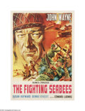 """Movie Posters:War, The Fighting Seabees (Republic, 1944). Italian Poster (19.5"""" X 27""""). This is a linen backed, vintage, theater-used poster fo..."""