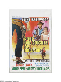 "A Fistful of Dollars (United Artists, 1964). Small Belgian Poster (14"" X 21""). Offered here is a vintage, thea..."