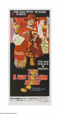 "For a Few Dollars More (United Artists, 1967). Australian Daybill (13"" X 30""). Offered here is a vintage, thea..."