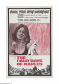 "Movie Posters:War, The Four Days of Naples (MGM, 1962). One Sheet (27"" X 41""). Offeredhere is a vintage, theater-used poster for this war dram..."