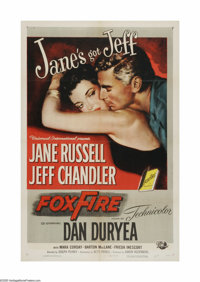 """Foxfire (Universal, 1955). One Sheet (27"""" X 41""""). Offered here is a vintage, theater-used poster for this West..."""