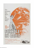 "Movie Posters:War, Foxhole in Cairo (Paramount, 1961). One Sheet (27"" X 41""). Offeredhere is a vintage, theater-used poster for this war drama..."