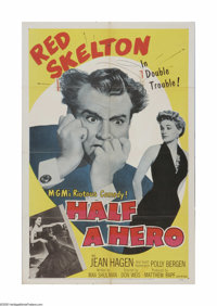 "Half a Hero (MGM, 1953). One Sheet (27"" X 41""). Offered here is a vintage, theater-used poster for this comedy..."