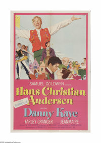 "Hans Christian Andersen (RKO, 1952). One Sheet (27"" X 41""). Offered here is a vintage, theater-used poster for..."