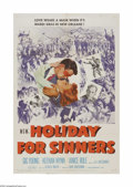 """Movie Posters:Drama, Holiday for Sinners (MGM, 1952). One Sheet (27"""" X 41""""). Offered here is a vintage, theater-used poster for this drama that w..."""
