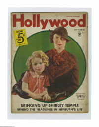Hollywood Magazine (Fawcett Publications, September, 1935). This is an original movie fanzine full of gossip and romance...