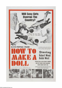 "How to Make a Doll (Argent Prod., 1968). One Sheet (27"" X 41""). Offered here is a vintage, theater-used poster..."