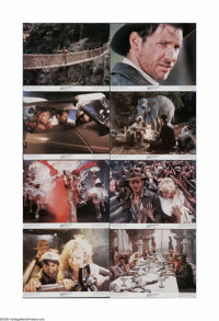 "Indiana Jones and the Temple of Doom (Paramount, 1984). Lobby Card Set of 8 (11"" X 14""). These are vintage, th..."