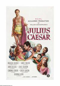 "Julius Caesar (MGM, 1953). One Sheet (27"" X 41""). This is a linen backed, vintage, theater-used poster for thi..."