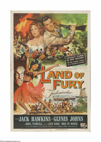 """Land of Fury (Universal, 1955). One Sheet (27"""" X 41""""). Offered here is a vintage, theater-used poster for this..."""