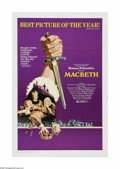 """Movie Posters:Drama, Macbeth (Columbia, 1972). One Sheet (27"""" X 41""""). Offered here is a vintage, theater-used poster for this Shakespearean drama..."""