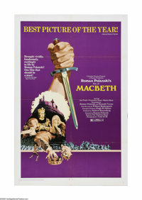 "Macbeth (Columbia, 1972). One Sheet (27"" X 41""). Offered here is a vintage, theater-used poster for this Shake..."