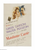 "Movie Posters:Drama, Madame Curie (MGM, 1943). One Sheet (27"" X 41""). Offered here is a vintage, theater-used poster for this historical drama th..."