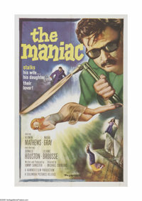 "The Maniac (Columbia, 1963) One Sheet (27"" X 41""). This is a vintage, theater used poster for this horror thri..."