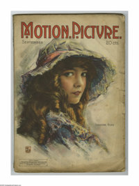 Motion Picture Magazine (M.P. Publishing Co., September, 1918). This is an original movie fanzine full of gossip and rom...