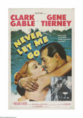 "Movie Posters:Adventure, Never Let Me Go (MGM, 1953). One Sheet (27"" X 41""). Offered here isa vintage, theater-used poster for this romantic adventu..."
