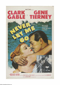 """Never Let Me Go (MGM, 1953). One Sheet (27"""" X 41""""). Offered here is a vintage, theater-used poster for this ro..."""