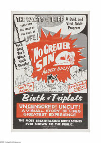 """No Greater Sin (Alexander International Film, 1941). One Sheet (27"""" X 41""""). Offered here is a vintage, theater..."""