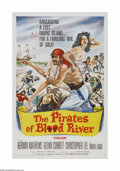 "Movie Posters:Adventure, The Pirates of Blood River (Columbia, 1962). One Sheet (27"" X 41"").Offered here is a vintage, theater-used poster for this ..."