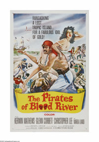 "The Pirates of Blood River (Columbia, 1962). One Sheet (27"" X 41""). Offered here is a vintage, theater-used po..."
