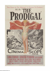 """The Prodigal (MGM, 1955). One Sheet (27"""" X 41""""). Offered here is a vintage, theater-used poster for this Bibli..."""