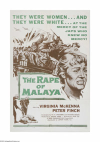 """The Rape of Malaya (Lopert Pictures, 1959). One Sheet (27"""" X 41""""). Offered here is a vintage, theater-used pos..."""