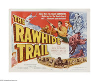 "The Rawhide Trail (Allied Artists, 1958). Half Sheet (22"" X 28""). Offered here is a folded, vintage, theater-u..."
