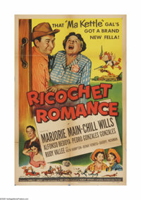 "Ricochet Romance (Universal, 1954). One Sheet (27"" X 41""). Offered here is a vintage, theater-used poster for..."