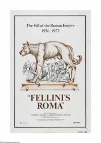 """Fellini's Roma (United Artists, 1972). One Sheet (27"""" X 41""""). Offered here is a vintage, theater-used poster f..."""