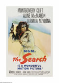 "Movie Posters:Drama, The Search (MGM, 1948). One Sheet (27"" X 41""). This is a linen backed, vintage, theater-used poster for this drama that was ..."