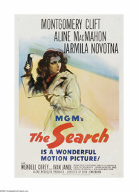 "The Search (MGM, 1948). One Sheet (27"" X 41""). This is a linen backed, vintage, theater-used poster for this d..."