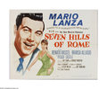 "Movie Posters:Drama, Seven Hills of Rome (MGM, 1958). Half Sheet (22"" X 28""). Offered here is a vintage, theater-used poster for this mystery thr..."