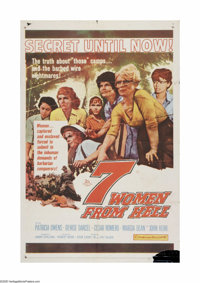 "7 Women From Hell (20th Century Fox, 1961). One Sheet (27"" X 41""). Offered here is a vintage, theater-used pos..."