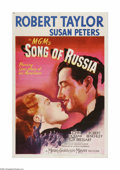 "Movie Posters:Drama, Song of Russia (MGM, 1944). One Sheet (27"" X 41""). Offered here is a vintage, theater-used poster for this war drama that wa..."