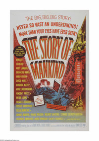 "The Story of Mankind (Warner Brothers, 1957). One Sheet (27"" X 41""). Offered here is a vintage, theater-used p..."